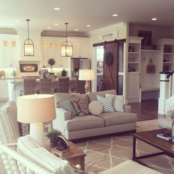neutral living room idea for farmhouse style - Neutral Living Room