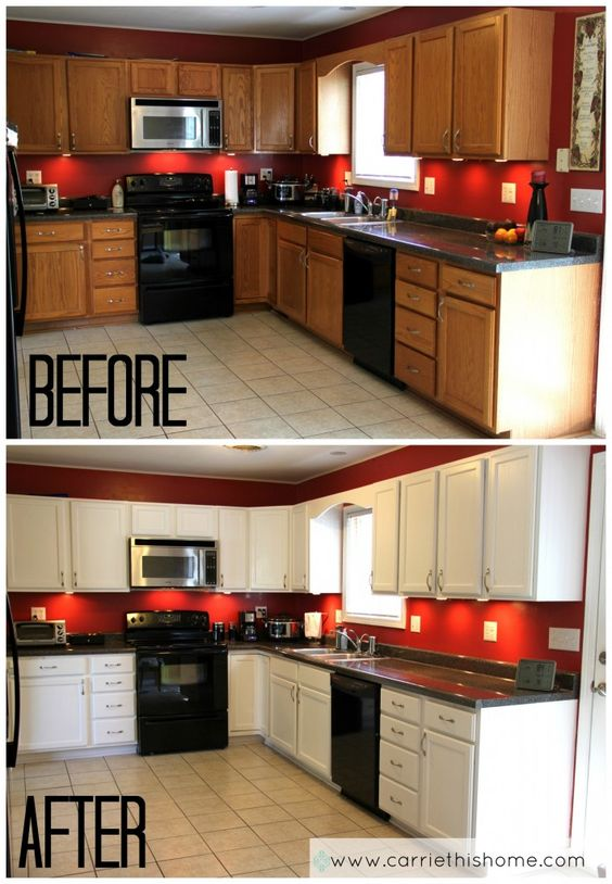 DIY Painted Cabinets Kitchen Upgrade