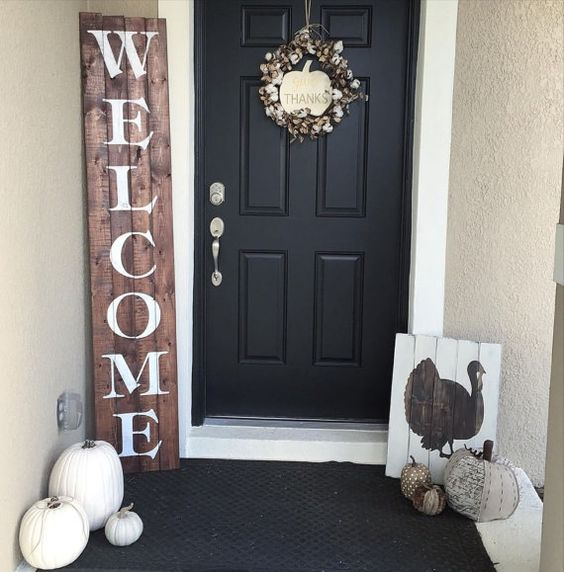 Neutral DIY Fall Decor for Front Porch
