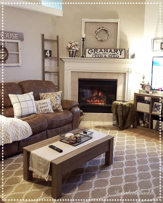 48 Gorgeous Neutral Living Rooms Lures And Lace Custom Living Room Brown Couch Model