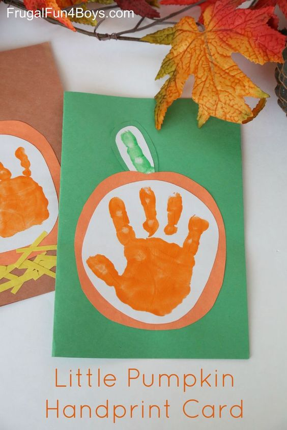 Pumpkin Hand Print - Toddler Fall Crafts