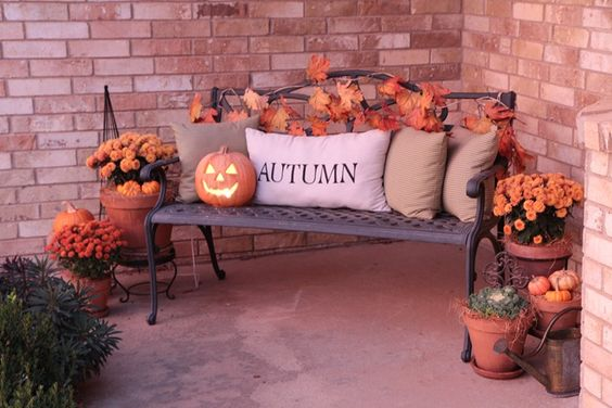 Outside Fall Decor - Front Porch DIY