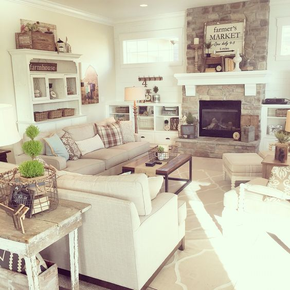 Farmhouse Neutral Living Room