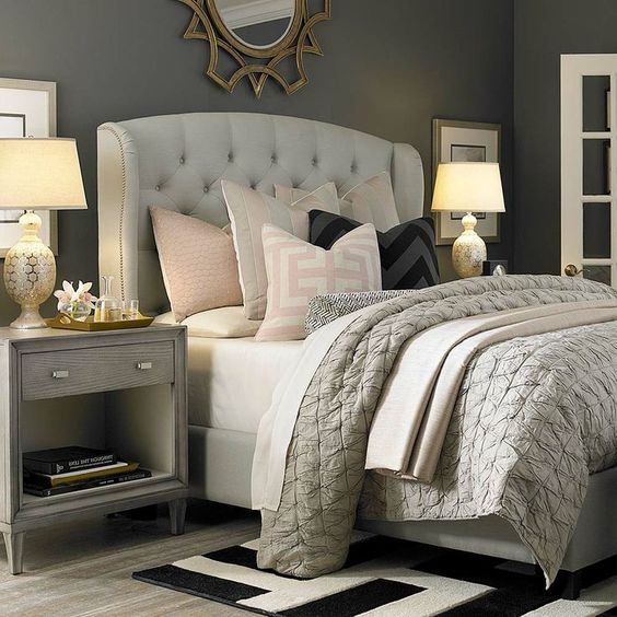 Accented Neutral Color Scheme Bedroom: Bedroom Decorating Ideas And Inspiration
