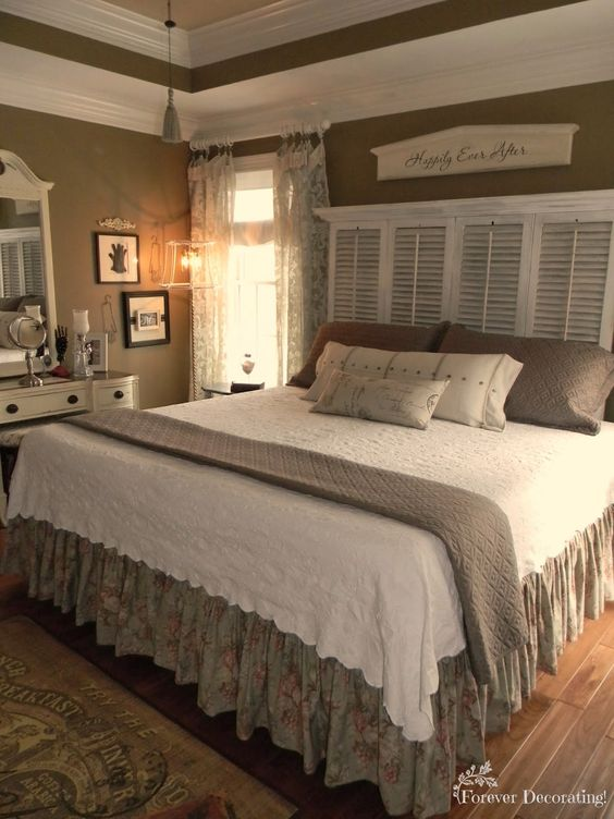 Master Bedroom Design Color Schemes Shabby Chic