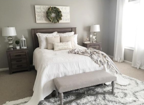 Beautiful Farmhouse Style Bedroom