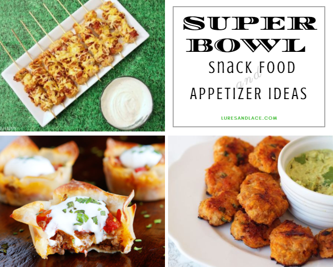 Super Bowl Sunday Snack Food and Appetizer Ideas | Football Party Food #superbowl #superbowlparty #recipes #football #footballfood #healthyrecipes #luresandlace #lureslaceblog