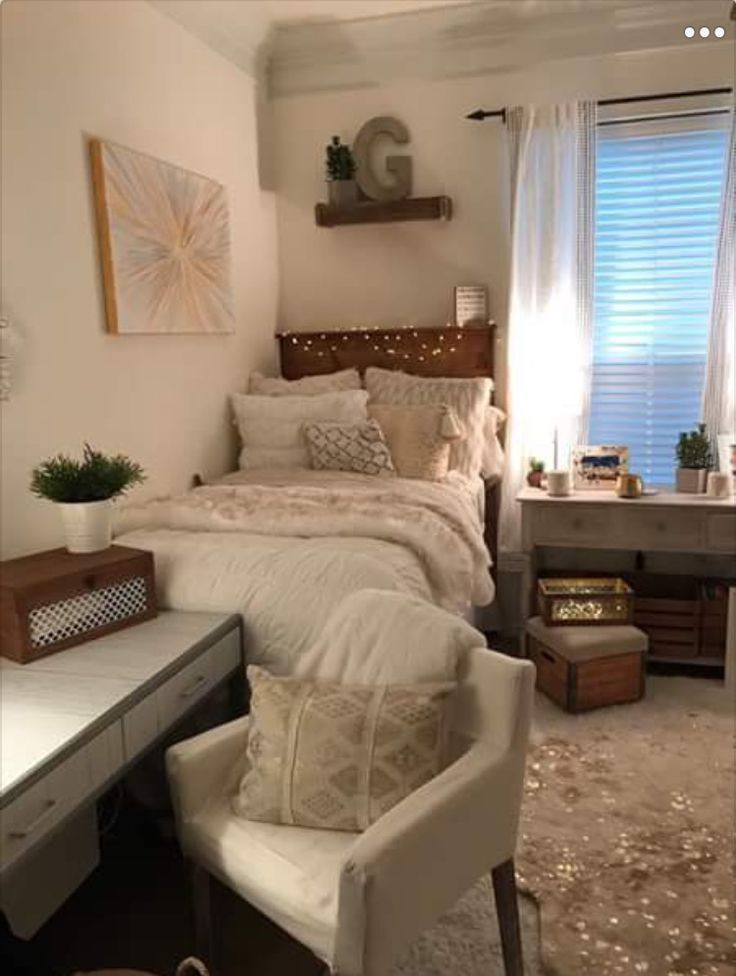 Glam dorm rooms that you need to copy lures and lace - College dorm room ideas examples ...