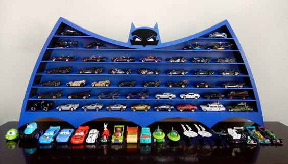 Hot Wheels Storage Idea - DIY Batman Display Case for Toy Cars