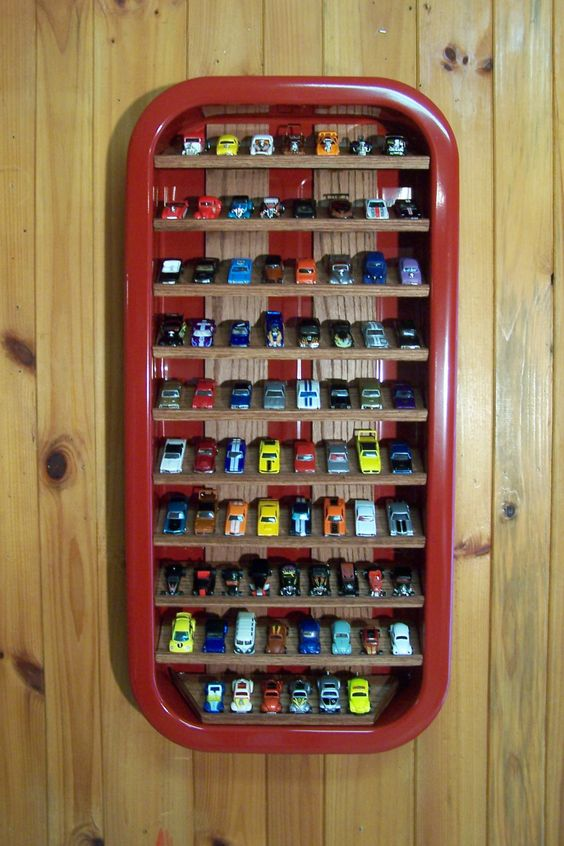 DIY Hot Wheels Storage and Display Case Using an Old Wagon - Easy, fun and creative way to organize your Hot Wheels, Matchbox and other toy cars that your kids and 'big-kids' will love!