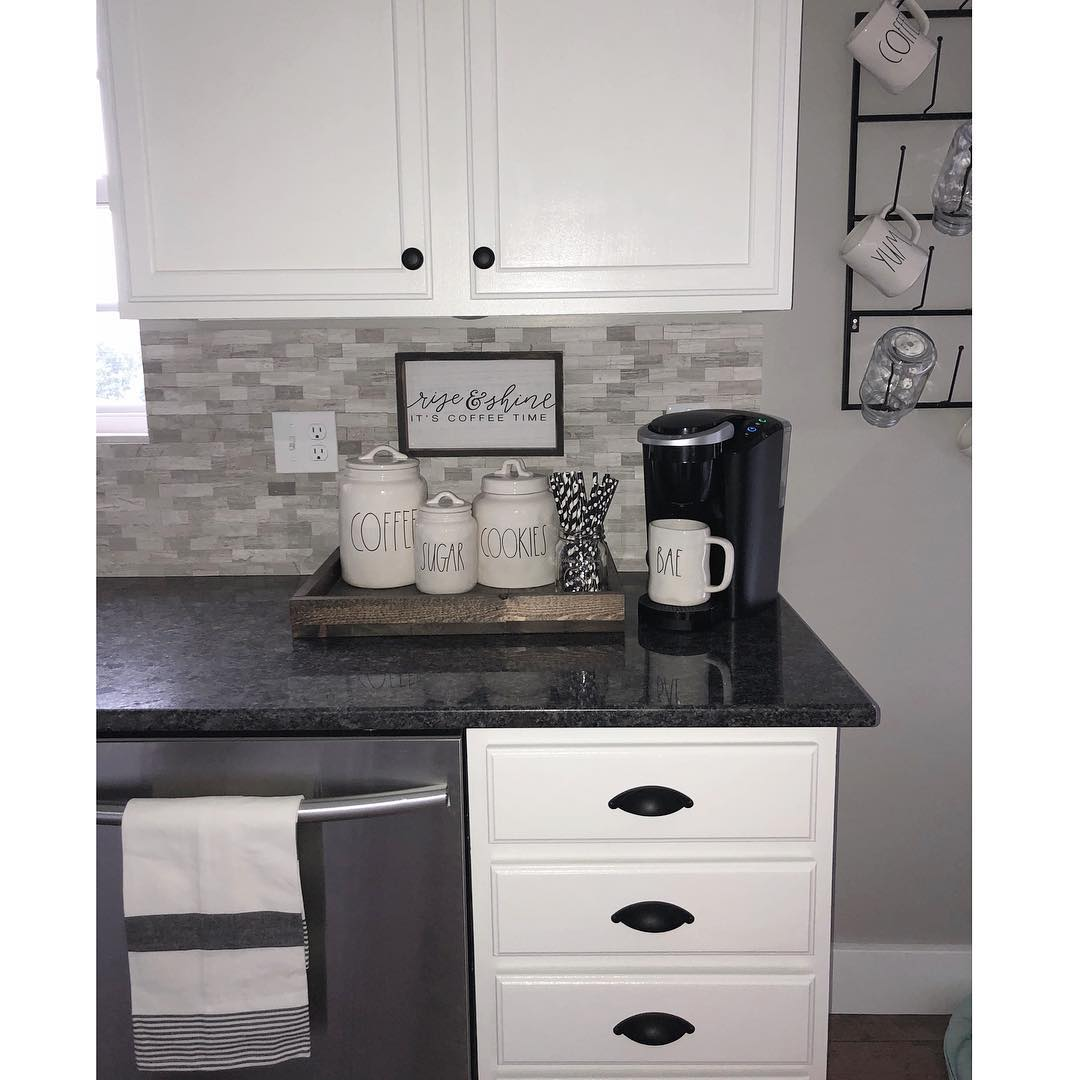 15 Must Haves For A Beautiful Beverage Station: 90+ Beautifully Designed Countertop Coffee Stations