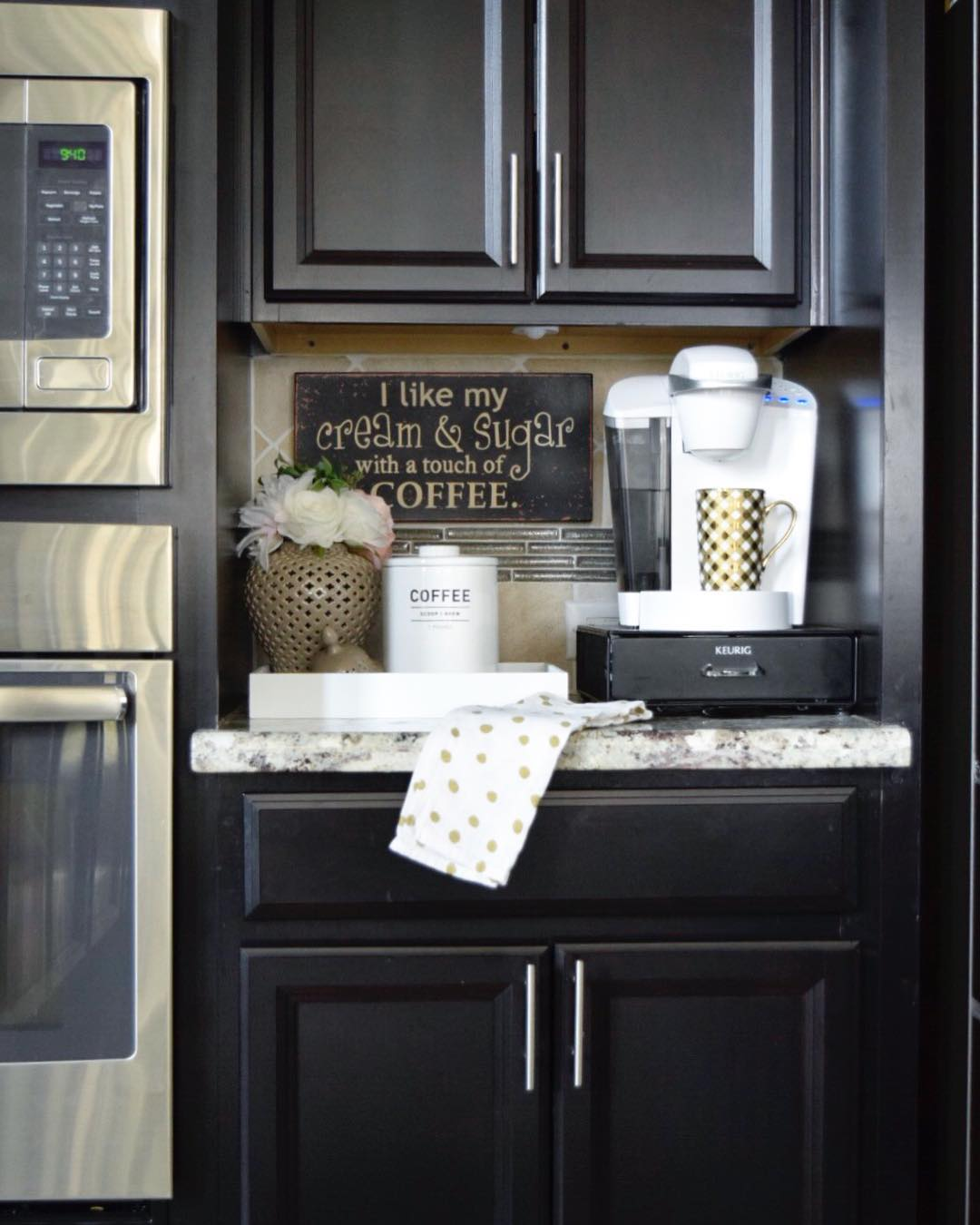 90+ Beautifully Designed Countertop Coffee Stations   Lures ...
