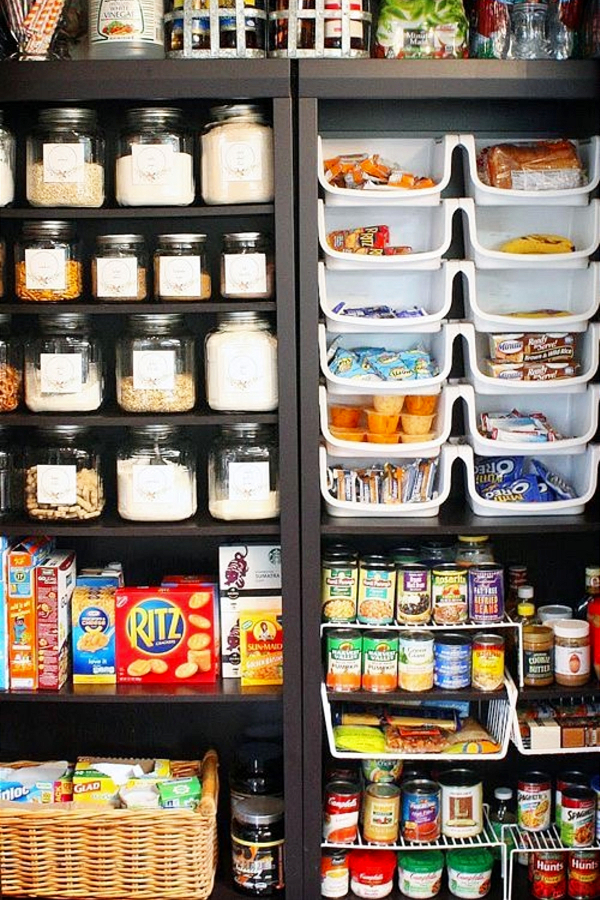 Makeover Your Pantry Closet Pantry! Use Labeled Clear Canisters, Bins and Kitchen Organizers to Declutter Your Pantry Shelves - 30+ Kitchen Pantry Closets That Are Perfectly Organized