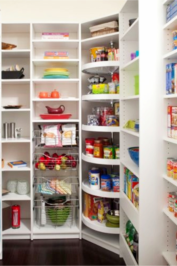 Organize Your Pantry By Putting A Storage Rack On The Back Of The Door For Your Spices, Bags and Other Small Items - 30+ Kitchen Pantry Closets That Are Perfectly Organized