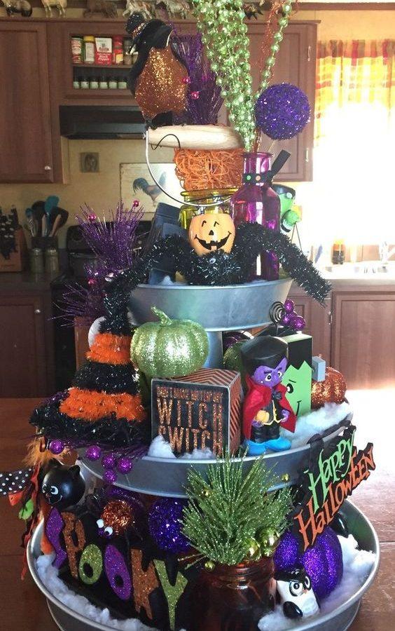 Three-Tier Tray Halloween Decor -20
