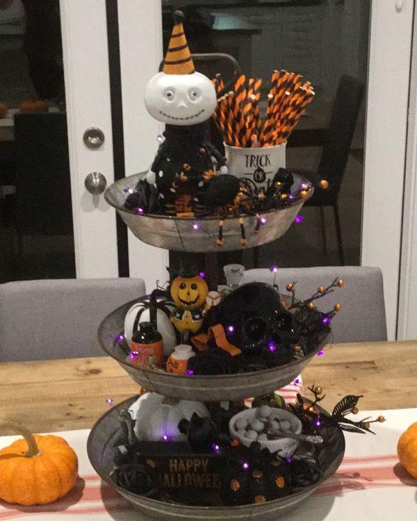 Three-Tier Tray Halloween Decor -38