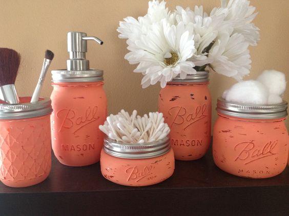 DIY Mason Jar Ideas for My Bathroom