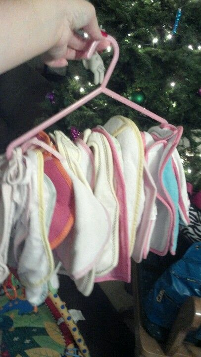 Bib Storage - Baby Organization on Luresandlace.com